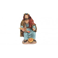 Pastor pelando pollo (95534-537) - 12 cm