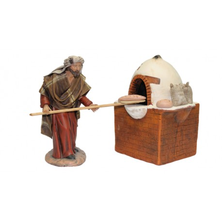 Panadero con pala y horno (95554-557) - 12 cm