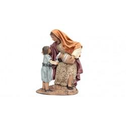 Pastora lechera con niño (95562-565) - 12 cm