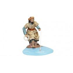 Pastor pescando (95578-581) - 12 cm
