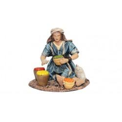 Pastor vendiendo fruta (95586-589) - 12 cm