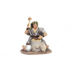 Pastor partiendo oliva (95590-593) - 12 cm