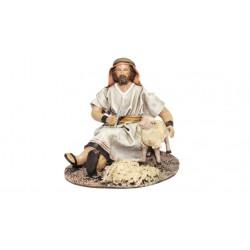 Pastor esquilando oveja (95594-597) - 12 cm