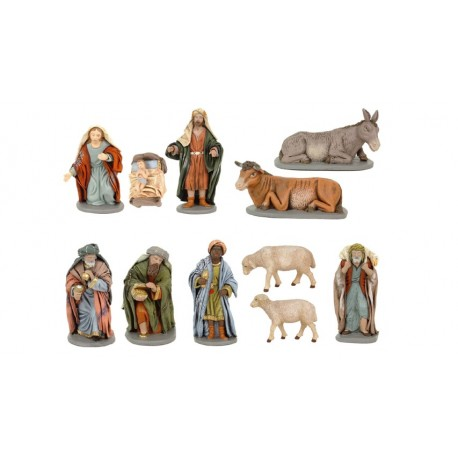 Pack figuras marmolina 11 piezas en 10 cm.