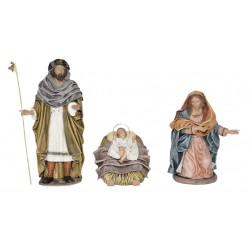 Nacimiento barro lienzado (015-021) - 10 cm, 5 piezas