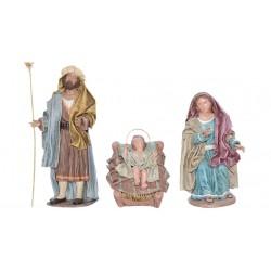 Nacimiento barro lienzado (308-311/054-056) - 21 cm, 5 piezas