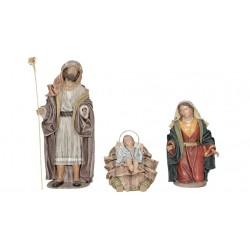 Nacimiento barro lienzado (195-201) - 5 piezas, 10 cm