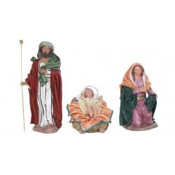 Nacimiento barro lienzado (244-250) - 10 cm, 5 piezas